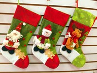 Wholesale Christmas Stocking Christmas Tree Ornaments Decoration Santa Claus Snowman Stocking New Year Gifts Drop Shipping