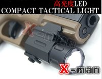 Wholesale Hunting Cree Led Flashlight Torch Waterproof Shock Resistant for pistol gun QD Weaver Picatinny mount rail