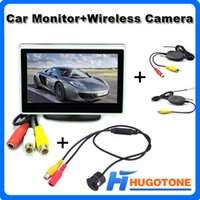 Wholesale 4 quot Car Monitor CH Video Car Monitor Foldable TFT LCD Color Wireless Rearview Camera Rearview Mirror