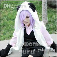 go go costume - New Un Go Inga Brack Cosplay Costume Panda Plush Hat with Gloves Plush Tail