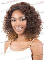 blonde wigs short hair - Fashion wig New sexy women s short synthetic wigs Brown Mix Blonde Mix Curly Synthetic Hair Full Wigs