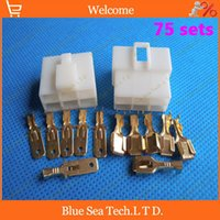 electrical plugs and sockets - 75 sets mm Way pin Electrical Connector Kits Male and Female socket plug for Car Motorcycle etc