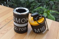 Wholesale 2 in DUMMY M18 Smoke Grenade shape Ashtray Windproof lighter YELLOW color