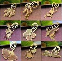 metal bookmark - Exquisite K bookmark natural Golden Dragonfly rose metal paragraph Creative Bookmarks