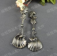 antique fishing spoons - RYQY110 MM Vintage fish handle antique spoon charm Korean New Retro jewelry accessories