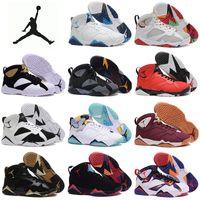 purple gold sneakers - Nike dan Retro Basketball Shoes Men Cheap Jordan VII Boots Original Sneakers High Cut Leather Sport Shoes