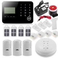 auto dialer gsm home alarm - US Stock Wireless IOS Android APP GSM SMS Home Security Alarm System Auto Dialer Motion Sensor Burglar System Phone Alarms PIR Detector