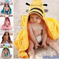 terry hooded towel - New Cartoon Animal Baby Hooded Bathrobe Bath Towel Bath Terry Bathing Robe For Children Kids HSV006263QQ