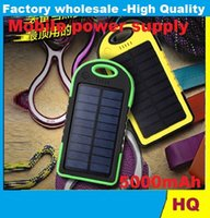 Wholesale Sport solar charger mAh power bank emergency charger mobile power supply with pothook Waterproof Dustproof unique design freeshipping