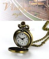 Wholesale New Fashion Retro Vintage Watch Bronze Steampunk Watch Eiffel Tower Hollow Quartz Necklace Pendant Chain Clock b23