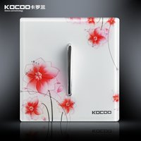 Wholesale KOCOO Carolan an open dual control switch I5 transparent crystal panel Artistic switch pattern switch panel