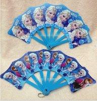 Wholesale Hot Sale Fashion Summer New Children Toys Princess Folding Fan Frozen Elsa Anna Kids Child Cool Plastic Armed With Folding Fans