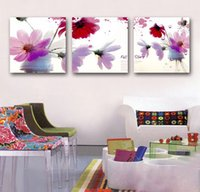 Cheap Popular3 Panels Free Shipping Hot Sell Modern Wall Painting Fall story flower Decorative Art Picture Paint on Canvas Prints
