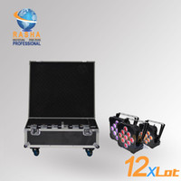 7 Channel active cooling system - 12X Panta W RGBAW in Wireless Battery Power LED Par Light With Unique in1 Charging Road Case Fan Cool System For Event