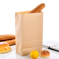 baking paper supplies - 32 cm Kraft Paper Baking Biscuit Bag Eco Friendly Disposable Cookies Biscuits Toast Bag Christmas Supplies SK738