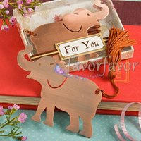 Wholesale Lucky Elephant Bookmark Wedding Favors Best Party Favors Bridal Shower Birthday Gifts Ring Bookmark Favors
