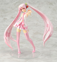 scale model figures - free shiping Hatsune VocaloidAnime sakura miku standing posture Scale PVC Action Figure Toy Model