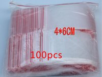 Wholesale 100PCS x6cm pe transparent travel plastic bag gift Packaging bags for necklace jewelry small ziplock clear self seal bags diy