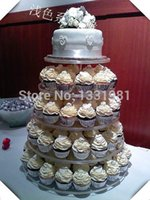 cupcake stand - cupcake box of stand5 Tier Round Beautiful High Quality Bracket Acrylic Cupcake Stands For Wedding Cake Display Shelf