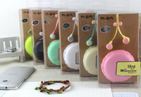 Wholesale Cell Phone Storage Boxes - Candy Earphones 3.5mm headphone Hot models SIBYL Macarons storage box M85 Universal headset headphones With mic and carry case OY