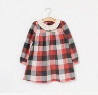 Cheap New Girls Plaid Dress 2015 Spring Children Clothing Kids Grid Clothes Girls Korean Fashion Casual Dresses dress girl wedding