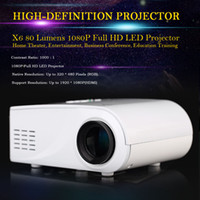av remote - X6 Projector P Full HD LED Projector Projection Machine with HDMI VGA AV Port Remote Controller V1823