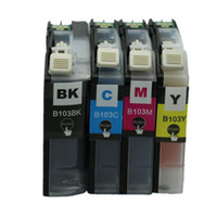 Wholesale 4 set LC103 LC103XL LC xl with chip compatible inkjet cartridge Ink cartridges for Brother MFC J4310DW J4410DW J4510DW printer