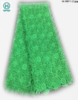 french lace - 2015 New fashion hot selling high quality african guipure lace fabric french lace for wedding dress HL1007