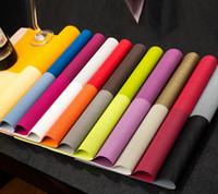Wholesale Placemat Table Mat Dinning Mat Textilene PVC Insulation Anti Slip Pad Antibacterial Flame Retardant cm