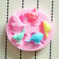 2014 Nuova Grazioso uccello stampo in silicone,Fondant Cake Decorating Tools,Silicone Sapone Stampo,stampi in silicone torta di decorazione