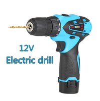 Wholesale 12V two speed Rechargeable battery Cordless hand drill household electric screwdriver Charger electric drill bits power tool set