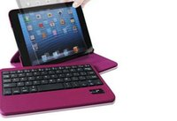 apple ipad synthetic - 360 Rotating Removable Bluetooth Keyboard Synthetic Case Cover for iPad mini Rotate Keyboard Case