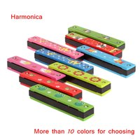 Wholesale Woodwind Instruments Tremolo Harmonica Holes Kids Musical Instrument Educational Musical Toy Retail I575