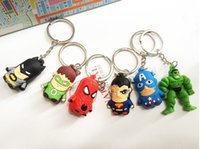 avengers gift card - 2015 fashion Keychains cartoon The Avengers D keychain pendant car keychain Card Package wedding gift
