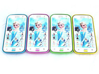 Wholesale Mobile Baby Phone Toy adventure snow queen Elsa and Anna English Learning Machine Projector toy christmas gifts for kids piece