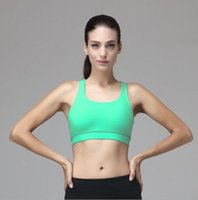 Wholesale New Arrival Yoga Exercise Bra top quality Women sweat uptale exhaust of moisture wire free yoga outfits bras padded fitness wear