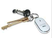 Wholesale 2016 Hot Sale LED Key Finder Locator Find Lost Keys Chain Keychain Whistle Sound Control