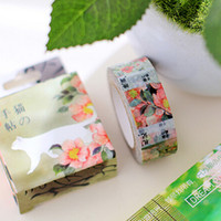 Wholesale Pieces Flower Tape Japanese Stickers Paper Flowers For Scrapbooking tecido com adesivo Washi Tape Diy Diary New