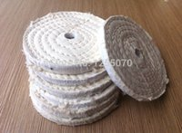Wholesale 10pcs White round buff metal mirror polishing cloth wheel polishing wheel polishing cloth disc mm order lt no track