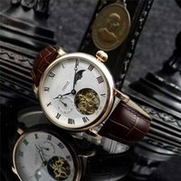 Wholesale Perfect Works Luxury AAA Top Quality Wristwatch Luxury Swiss Famous Pat Brand Watches Men Tourbillon Genuine Leather Back See Through