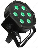 Wholesale 8W in1 Quad LEDs RGBW NEW Mega Quadpar Profile DMX flat Par light stage lighting
