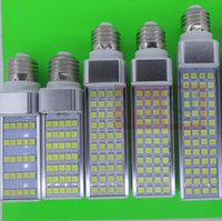 Wholesale E27 G24 SMD LED corn bulb Horizontal Plug lights led lamp degeree W W W W W W W LEDs led lighting AC V