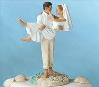 best topper - Beach Stylish Wedding Bridal Cake Toppers White Hug Romantic Couple Decoration Best Selling