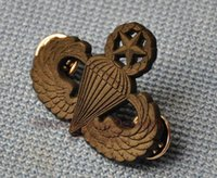 advanced metal working - Dark Army ACU advanced parachute AIRBORNE metal Skills chapter badge