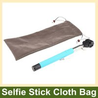 Wholesale Fashion Portable Selfie Stick Flannel Cloth Bag Sleeve Pouch for Selfie Stick Monopod Flashlight and Other Similar Size