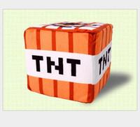 Wholesale Minecraft Creeper Toys Cube Cushion quot x12 quot x30cm TNT Plush Pendant TNT Plush Doll