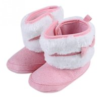 Wholesale Newest Baby Girls Bowknot Snow Boots Soft Crib Shoes Toddler Warm Fleece Boots