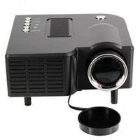 Wholesale Black color HD UC28 Home Theater Mini LED Projector Portable Multimedia LED Projector Support P IAV in Video VGA HDMI USB