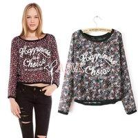 Cheap 2014 New Women Vintage Full Floral Print Long Sleeve Blouse Shirts Lady Fashion Flower Chiffon Shirt Top 3Sizes SV16 SV006671