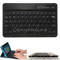 best aluminum windows - Best Price Black Ultra Slim Multimedia Aluminum Wireless Bluetooth Keyboard For IOS Android PC For Windows For Ipad